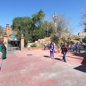 11 of 32: Fantasyland - Tangled restroom area opening day