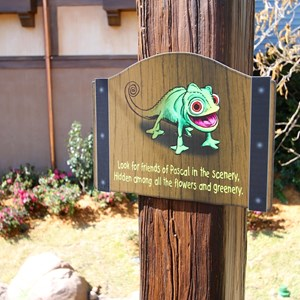 27 of 32: Fantasyland - Tangled restroom area opening day
