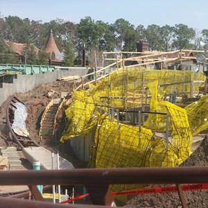 2 of 16: Fantasyland - Seven Dwarfs Mine Train coaster construction