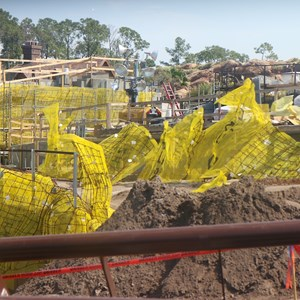 3 of 16: Fantasyland - Seven Dwarfs Mine Train coaster construction