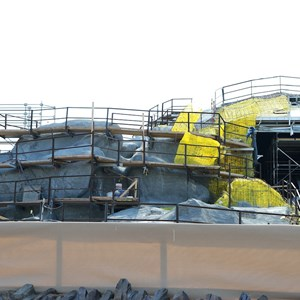 4 of 16: Fantasyland - Seven Dwarfs Mine Train coaster construction