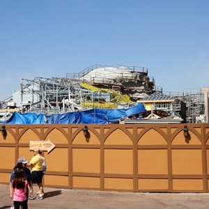10 of 16: Fantasyland - Seven Dwarfs Mine Train coaster construction