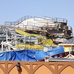 11 of 16: Fantasyland - Seven Dwarfs Mine Train coaster construction
