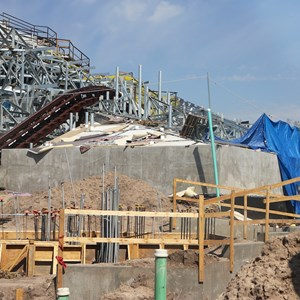 13 of 16: Fantasyland - Seven Dwarfs Mine Train coaster construction