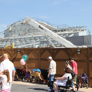 15 of 16: Fantasyland - Seven Dwarfs Mine Train coaster construction