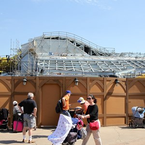 16 of 16: Fantasyland - Seven Dwarfs Mine Train coaster construction