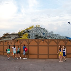 2 of 23: Fantasyland - Seven Dwarfs Mine Train coaster construction