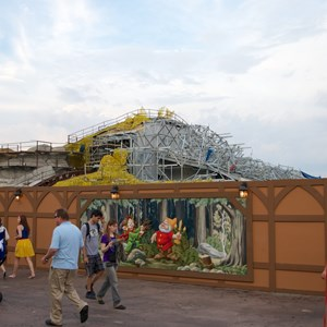 3 of 23: Fantasyland - Seven Dwarfs Mine Train coaster construction