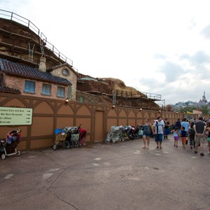 6 of 23: Fantasyland - Seven Dwarfs Mine Train coaster construction