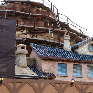 8 of 23: Fantasyland - Seven Dwarfs Mine Train coaster construction