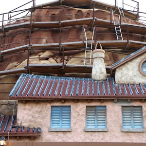 10 of 23: Fantasyland - Seven Dwarfs Mine Train coaster construction