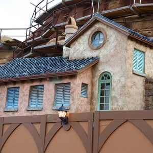 11 of 23: Fantasyland - Seven Dwarfs Mine Train coaster construction