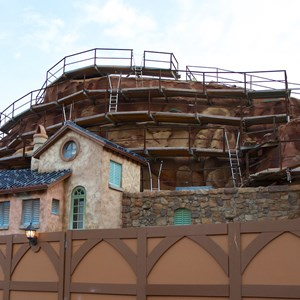 13 of 23: Fantasyland - Seven Dwarfs Mine Train coaster construction