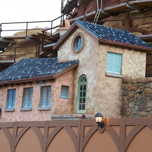 14 of 23: Fantasyland - Seven Dwarfs Mine Train coaster construction