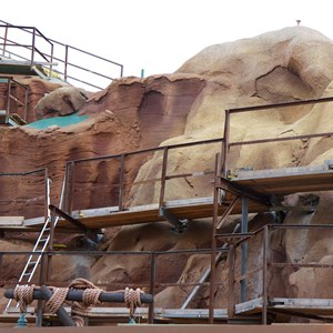 15 of 23: Fantasyland - Seven Dwarfs Mine Train coaster construction