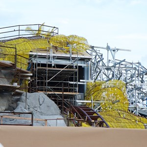 17 of 23: Fantasyland - Seven Dwarfs Mine Train coaster construction