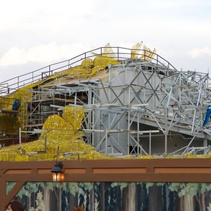 18 of 23: Fantasyland - Seven Dwarfs Mine Train coaster construction