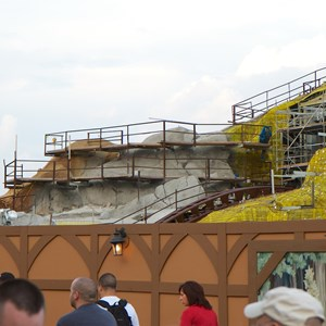 19 of 23: Fantasyland - Seven Dwarfs Mine Train coaster construction