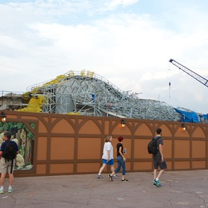 20 of 23: Fantasyland - Seven Dwarfs Mine Train coaster construction