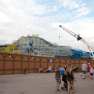 22 of 23: Fantasyland - Seven Dwarfs Mine Train coaster construction