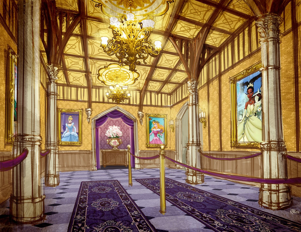 Princess Fairytale Hall concept art