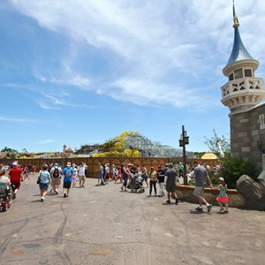 1 of 12: Fantasyland - Seven Dwarfs Mine Train coaster construction
