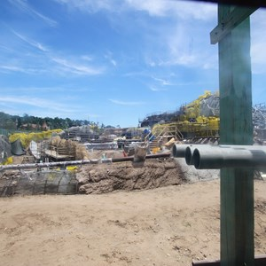 2 of 12: Fantasyland - Seven Dwarfs Mine Train coaster construction