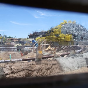 3 of 12: Fantasyland - Seven Dwarfs Mine Train coaster construction