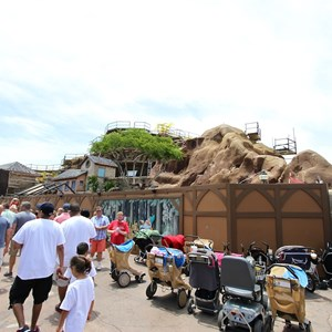 4 of 12: Fantasyland - Seven Dwarfs Mine Train coaster construction