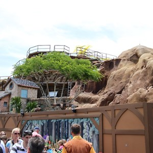 5 of 12: Fantasyland - Seven Dwarfs Mine Train coaster construction
