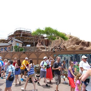 6 of 12: Fantasyland - Seven Dwarfs Mine Train coaster construction