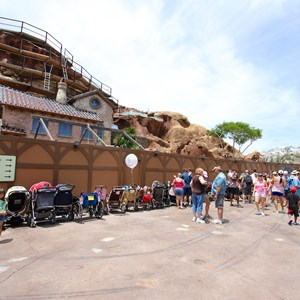 7 of 12: Fantasyland - Seven Dwarfs Mine Train coaster construction