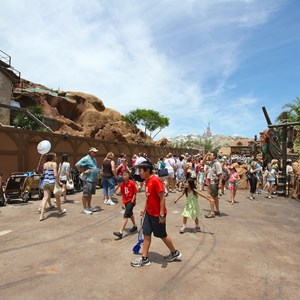 9 of 12: Fantasyland - Seven Dwarfs Mine Train coaster construction