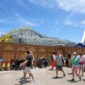 11 of 12: Fantasyland - Seven Dwarfs Mine Train coaster construction