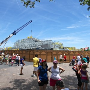 12 of 12: Fantasyland - Seven Dwarfs Mine Train coaster construction