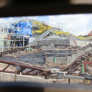 3 of 20: Fantasyland - Seven Dwarfs Mine Train coaster construction