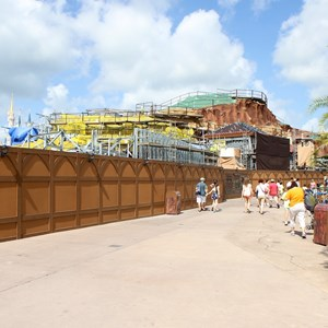 4 of 20: Fantasyland - Seven Dwarfs Mine Train coaster construction