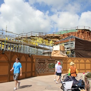 5 of 20: Fantasyland - Seven Dwarfs Mine Train coaster construction