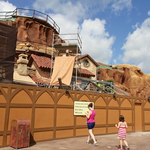 6 of 20: Fantasyland - Seven Dwarfs Mine Train coaster construction