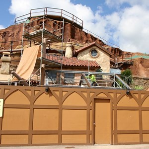 7 of 20: Fantasyland - Seven Dwarfs Mine Train coaster construction
