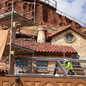 8 of 20: Fantasyland - Seven Dwarfs Mine Train coaster construction