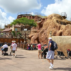 10 of 20: Fantasyland - Seven Dwarfs Mine Train coaster construction