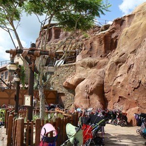 11 of 20: Fantasyland - Seven Dwarfs Mine Train coaster construction