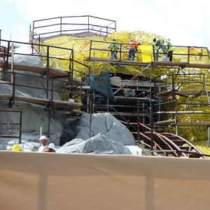 12 of 20: Fantasyland - Seven Dwarfs Mine Train coaster construction