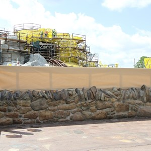 13 of 20: Fantasyland - Seven Dwarfs Mine Train coaster construction