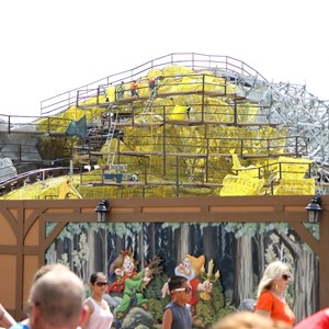 14 of 20: Fantasyland - Seven Dwarfs Mine Train coaster construction