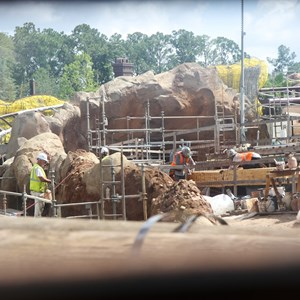 15 of 20: Fantasyland - Seven Dwarfs Mine Train coaster construction