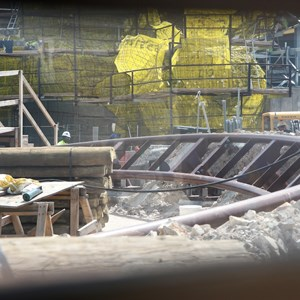 16 of 20: Fantasyland - Seven Dwarfs Mine Train coaster construction