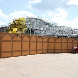 17 of 20: Fantasyland - Seven Dwarfs Mine Train coaster construction