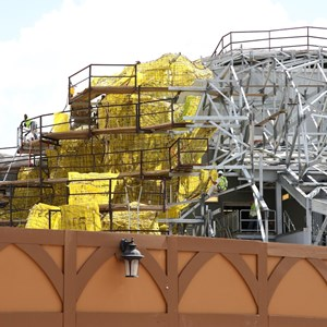 18 of 20: Fantasyland - Seven Dwarfs Mine Train coaster construction